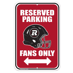 Ottawa REDBLACKS 10x15 Parking Sign