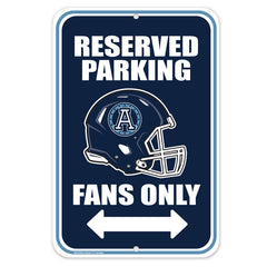 Toronto Argonauts 10x15 Parking Sign
