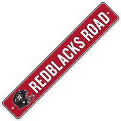 Ottawa REDBLACKS  4x23 Street Sign