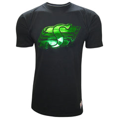 Saskatchewan Roughriders Men's Foil Logo Mitchell & Ness Tee