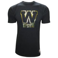 Winnipeg Blue Bombers Men's Foil Logo Mitchell & Ness Tee