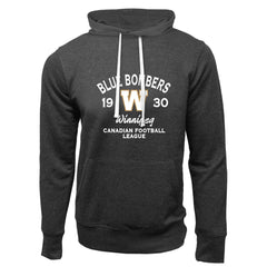 Winnipeg Blue Bombers Adult Charcoal Heather French Terry Fashion Hoodie - Design 08