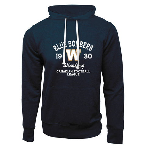 Winnipeg Blue Bombers Adult Navy French Terry Fashion Hoodie - Design 08