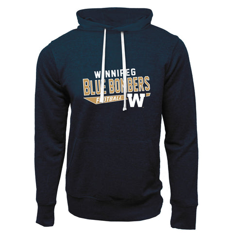 Winnipeg Blue Bombers Adult Navy French Terry Fashion Hoodie - Design 25