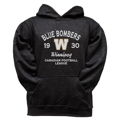 Winnipeg Blue Bombers  Youth Black Hoodie - Design 08