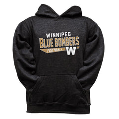 Winnipeg Blue Bombers  Youth Black Hoodie - Design 25