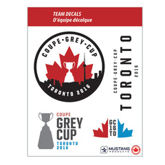 "Grey Cup 104 8.5"" x 11"" Team Decal Set"