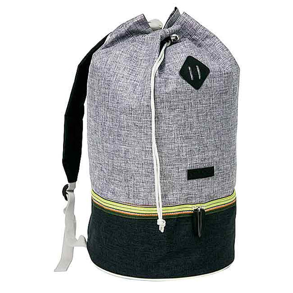 Black/Gray Throwback Back-Pack Multi-Use Bag by Fitkicks