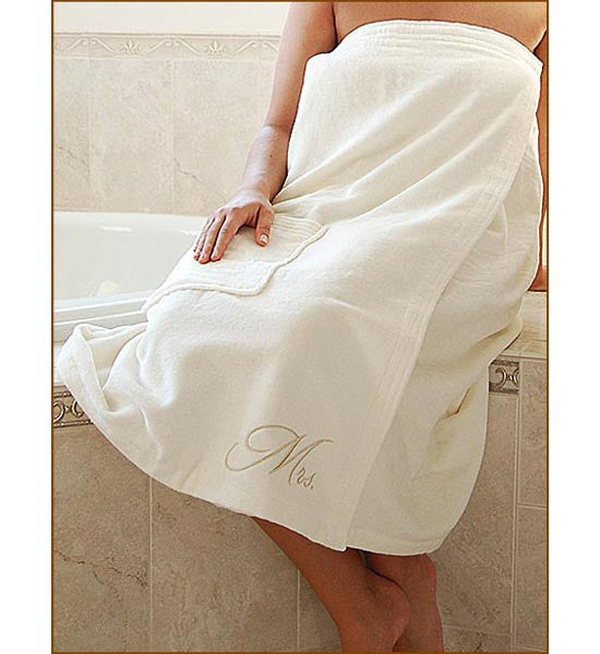 Mr. and Mrs. Bath Wrap Wedding Gift Set