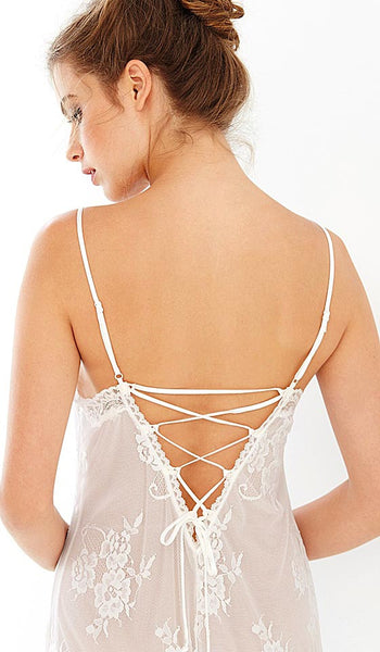 Women's Alana All-Over Lace Bridal Nightgown by In-Bloom by Jonquil - back view 4