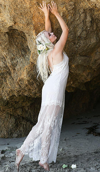 Women's Alana All-Over Lace Bridal Nightgown by In-Bloom by Jonquil - view 2