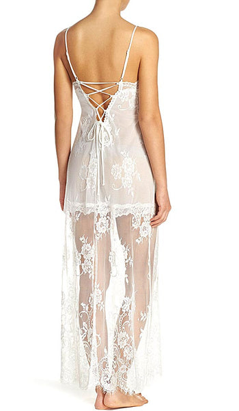 Women's Alana All-Over Lace Bridal Nightgown by In-Bloom by Jonquil - back view 2