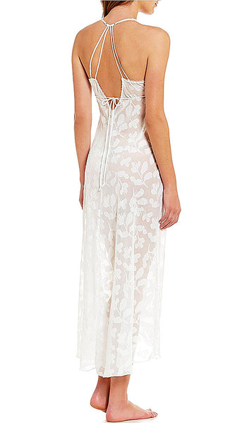 Women's Opal Leaf Bridal Nightgown by In-Bloom by Jonquil - back view