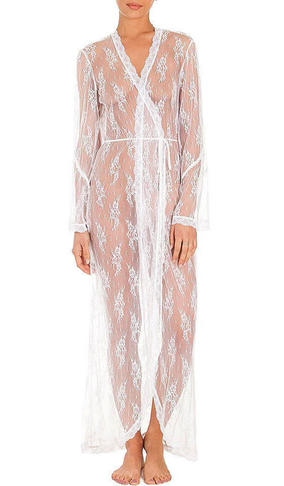 355c0f60956c ... Women s Ivory Bridal Sheer Lace Robe by In-Bloom by Jonquil ...
