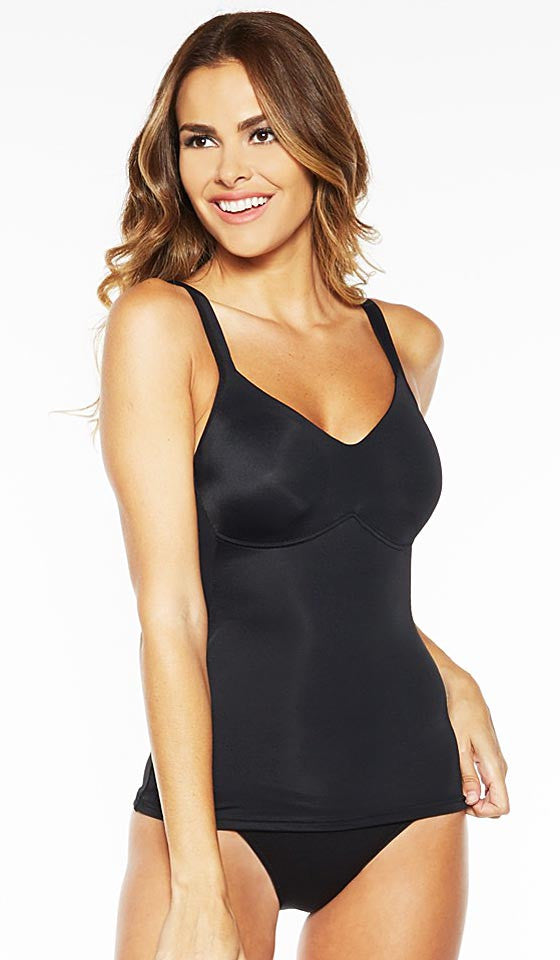 Women's Camisole - Black Stretch Molded Cup by Rhonda Shear