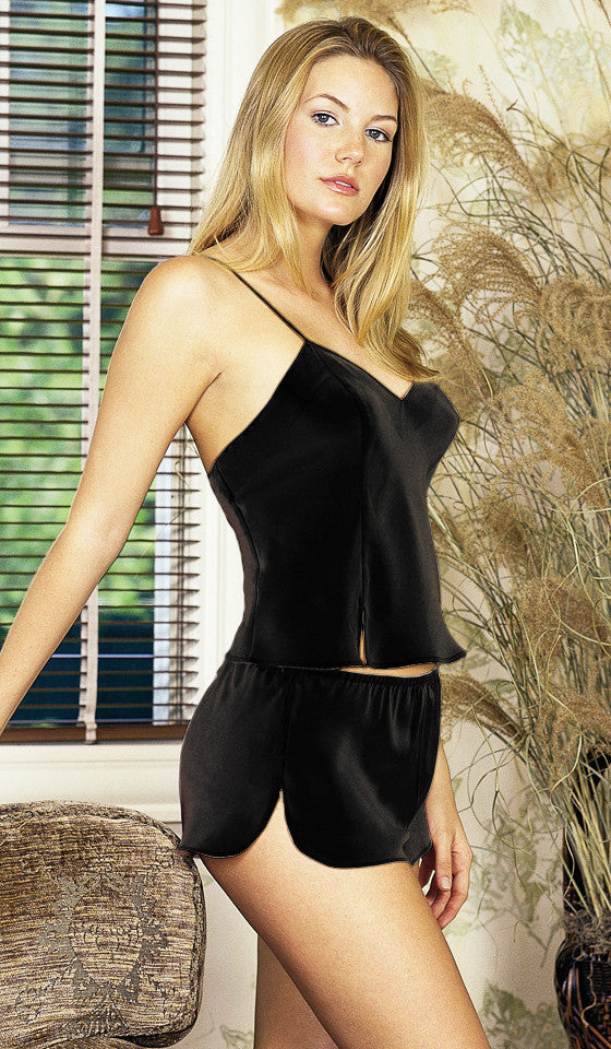 Camisole/Thongs Set - Silk Charmeuse (Medium-XL) - Pajama