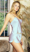 Camisole/Thongs Set - Silver Silk Charmeuse by Magic Silk