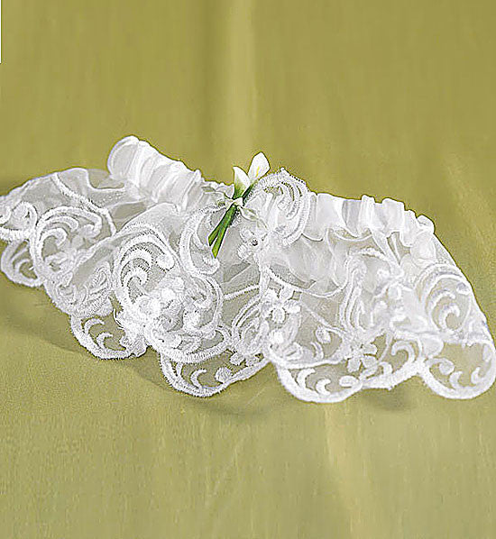 Garter - Bridal Lace with a Calla Lilly