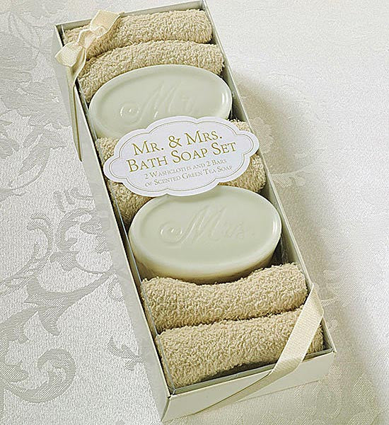 Mr. and Mrs. Bath Soap Wedding Gift Set