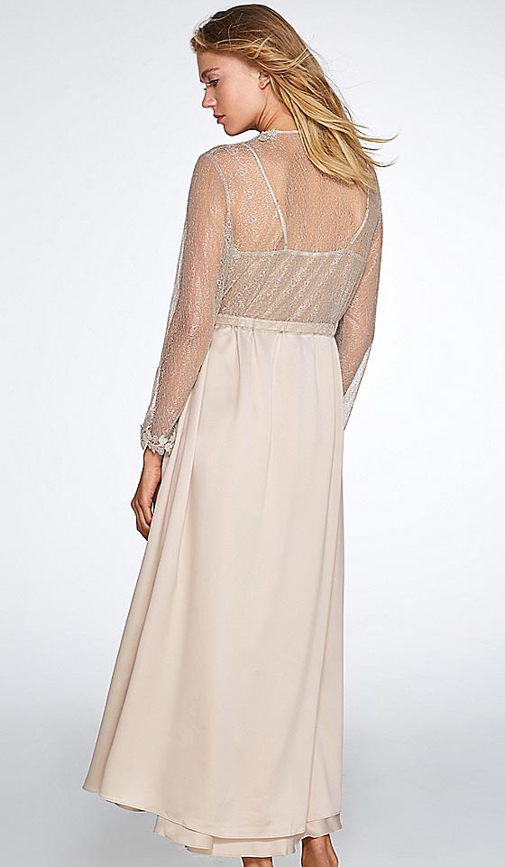 Showstopper Charmeuse & Lace Nightgown-Robe available (XS-Large ...