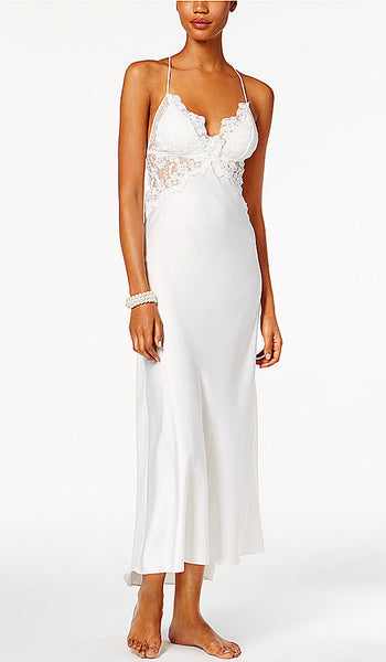 Women's Farrah Charmeuse & Lace Bridal Nightgown by Flora NiKrooz