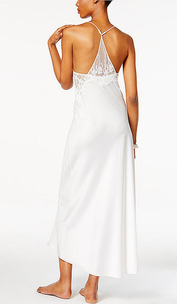 Women's Farrah Charmeuse & Lace Bridal Nightgown by Flora NiKrooz - back view