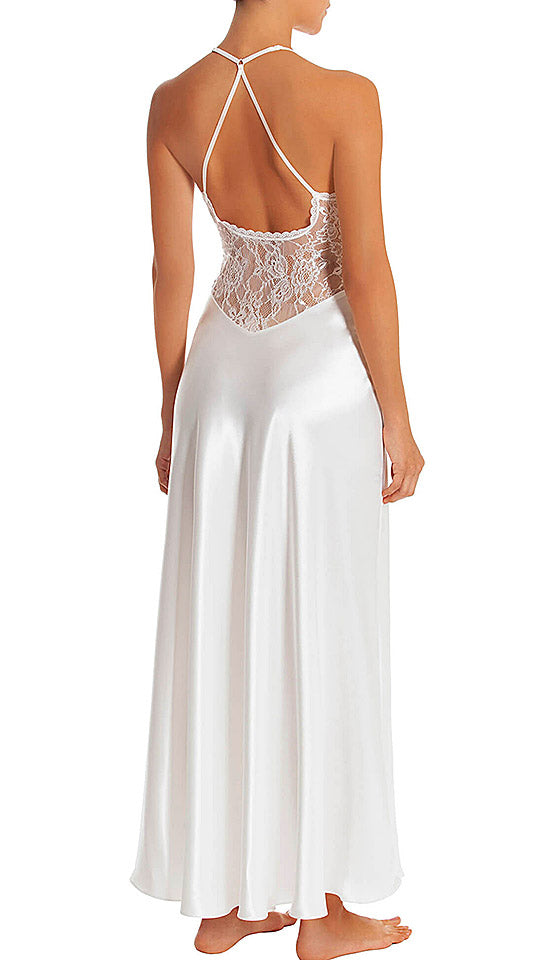 Women's Sutton Bridal Satin Charmeuse and Lace Nightgown by In-Bloom by Jonquil