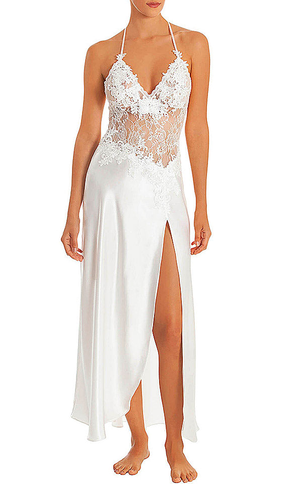 Women's Sutton Bridal Satin Charmeuse and Lace Nightgown by In-Bloom by Jonquil - View 1