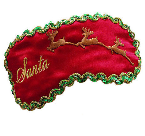"Red Silk Satin Sleep Mask ""Santa"""