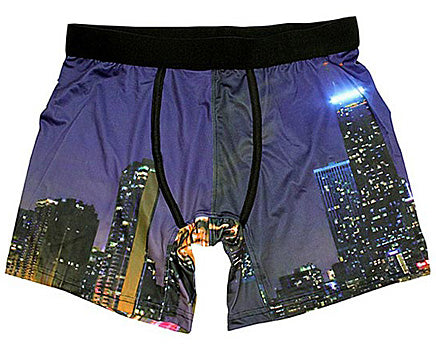 "Men's Downtown ""Chicago"" Poly Spandex Boxer Briefs"