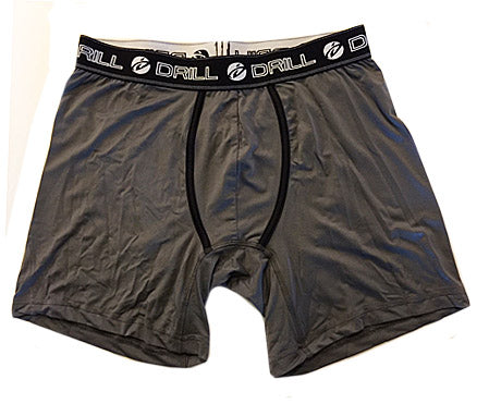 Men's Drill Poly-Spandex Boxer Briefs - Black