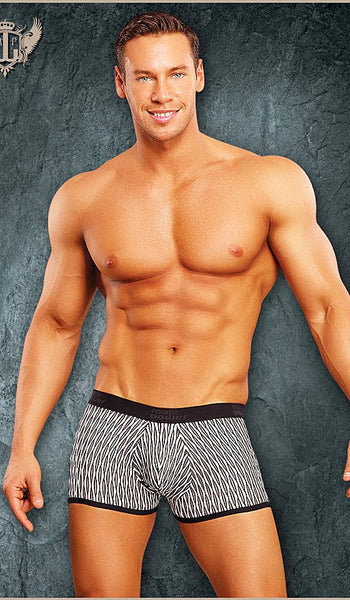 Men's The Wave Patterned Mini-Short Briefs by Male Power - View 2