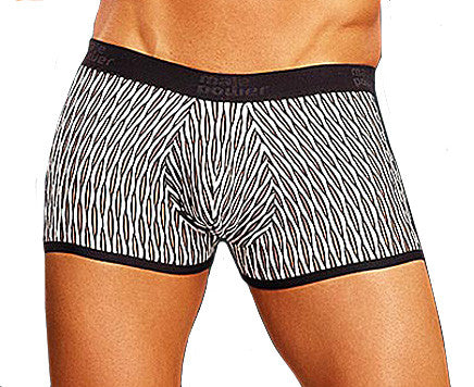 Men's The Wave Patterned Mini-Short Briefs by Male Power