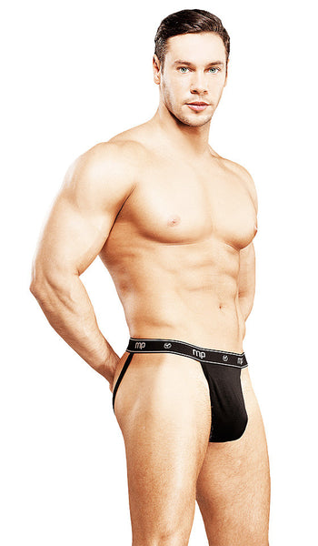 Men's Black Branded Bamboo Knit Sport Jock by Male Power - view 2