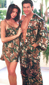 Men's silk jacquard camouflage print kimono and lounge pants by Magic Silk