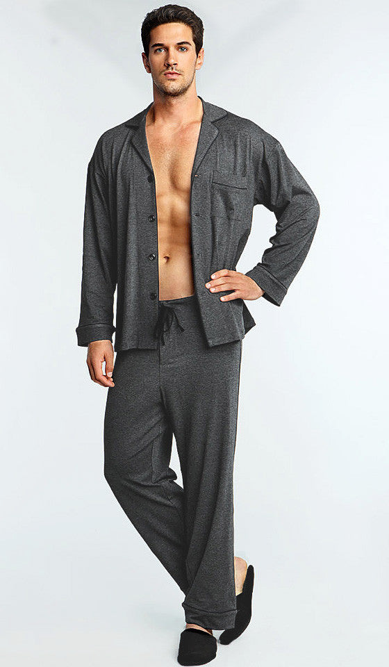 Classic Style Stretch Rayon Heather Gray Pajamas (2X only)