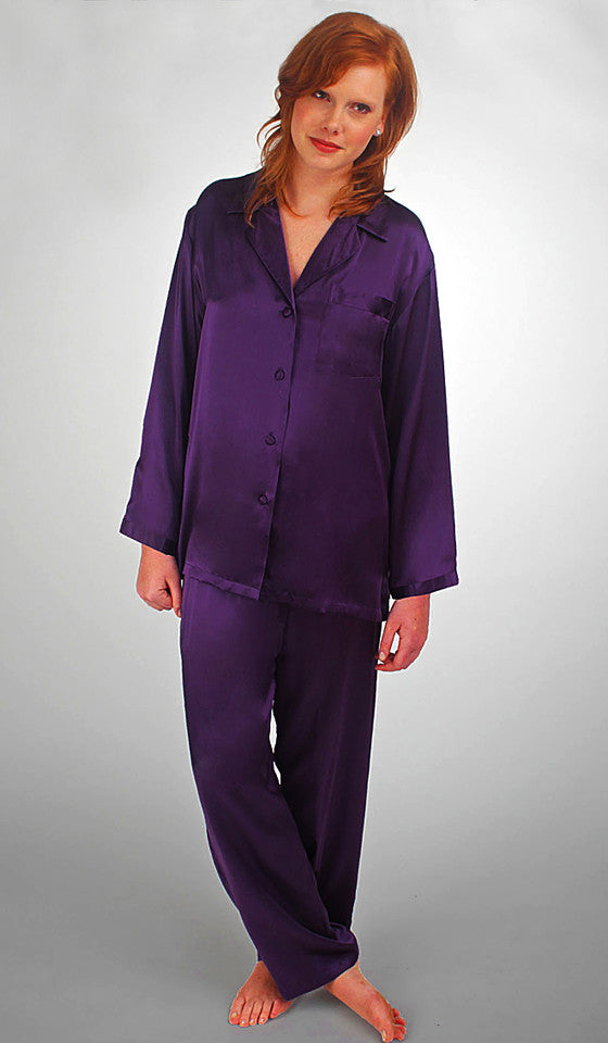 Black Silk Pajamas: Women's Silk Pajamas In Plus Sizes