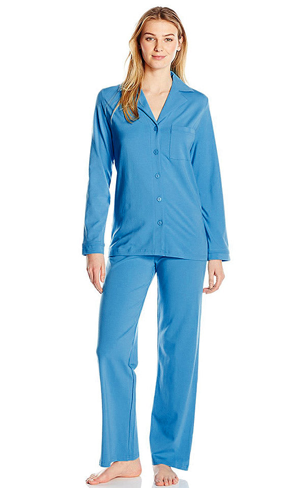 "Women's Pajamas - ""Before Bed"" Cotton Spandex Pajamas - Grape by Shadowline"