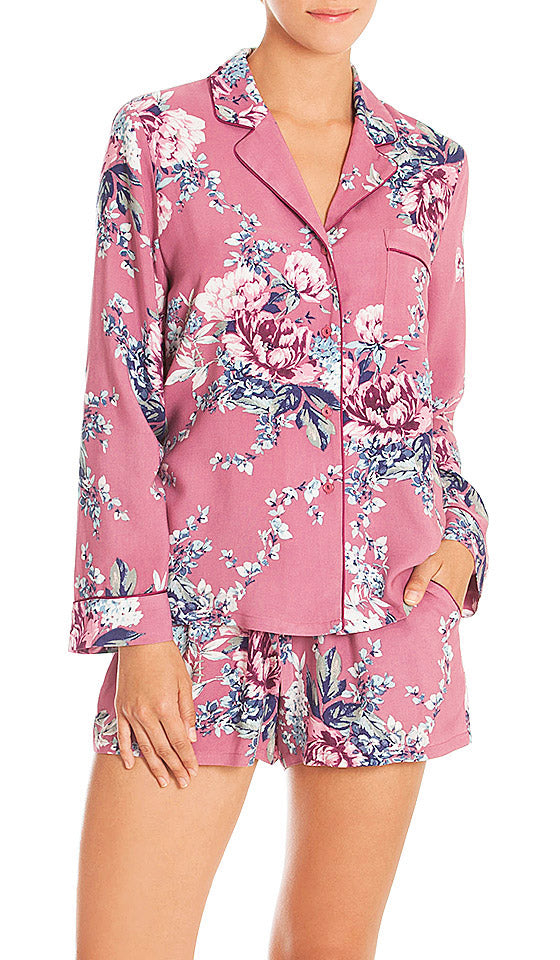Women's Bed of Roses Print Short Pajama Set by In-Bloom by Jonquil