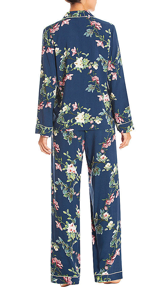 Women's Restful Blue Floral Print Pajamas - In-Bloom by Jonquil