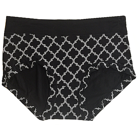 Women's Panty - Black Print Kathy Ireland Super Soft Stretch Brief