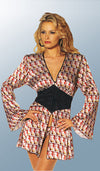 "Women's Robe - ""Marilyn Monroe"" Red Charmeuse Couture Tie-Back"