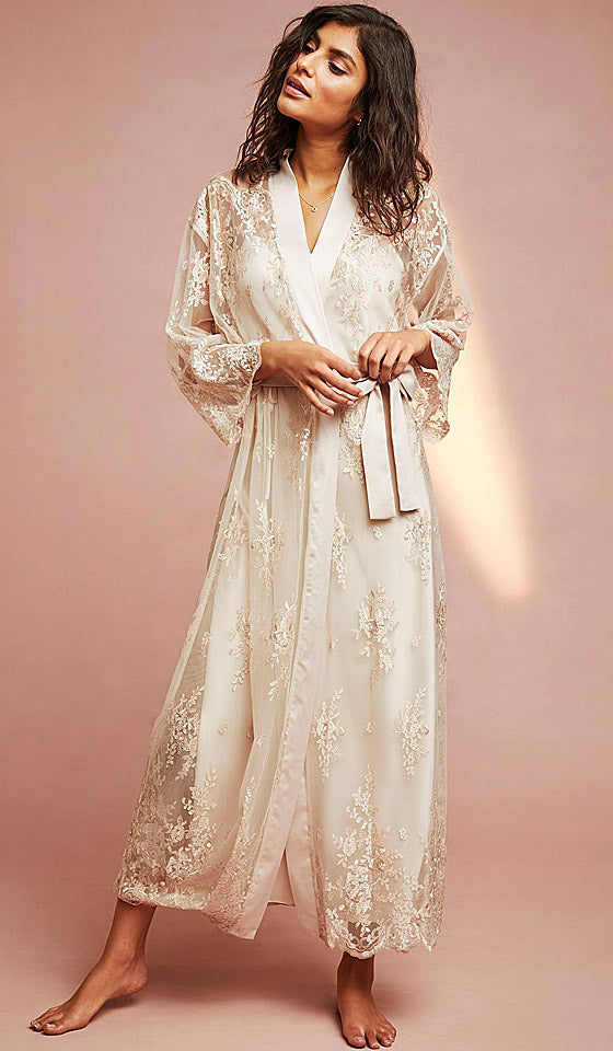 a29ffd96ad0 Women s Darling bridal sheer lace robe - champagne by Rya Collection ...