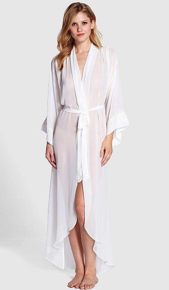 Women's Raquel Ivory Chiffon Bridal Robe by Jonquil - view 2
