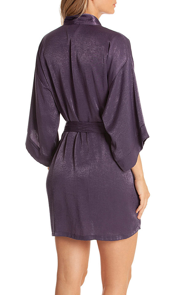 Women's violet Reminisce Shimmering Short Kimono Robe by In Bloom by Jonquil