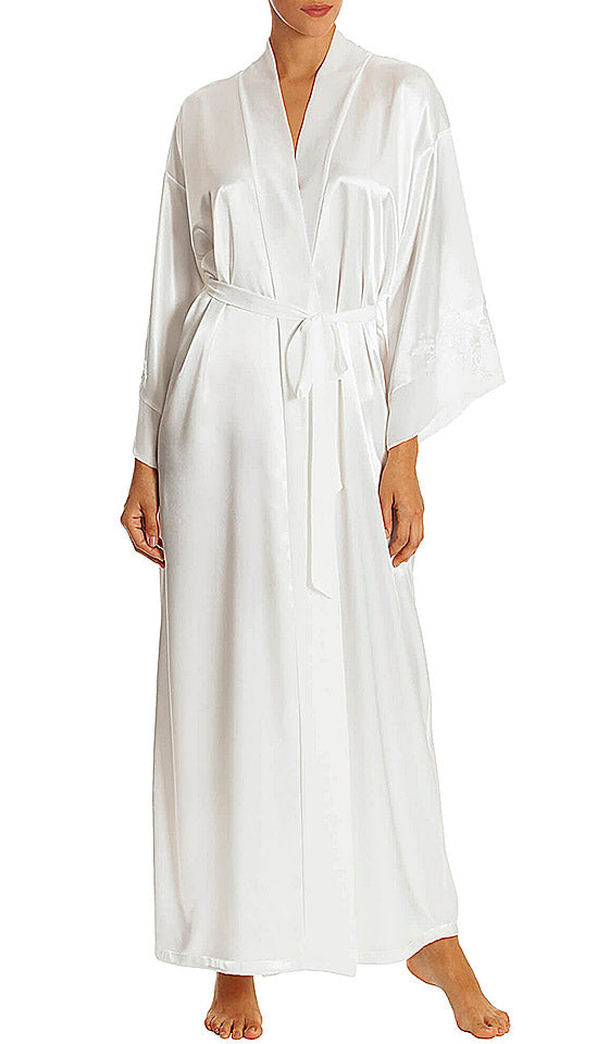 Women's Sutton Long Ivory Bridal Robe by In-Bloom by Jonquil