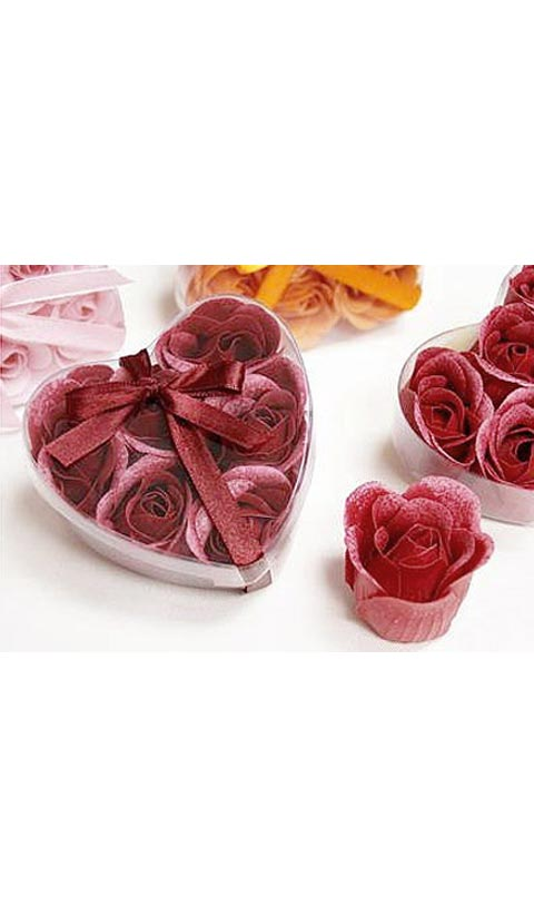 Gift - Burgundy Valentine Hearts Rose Soap Petals Gift Set - view 2