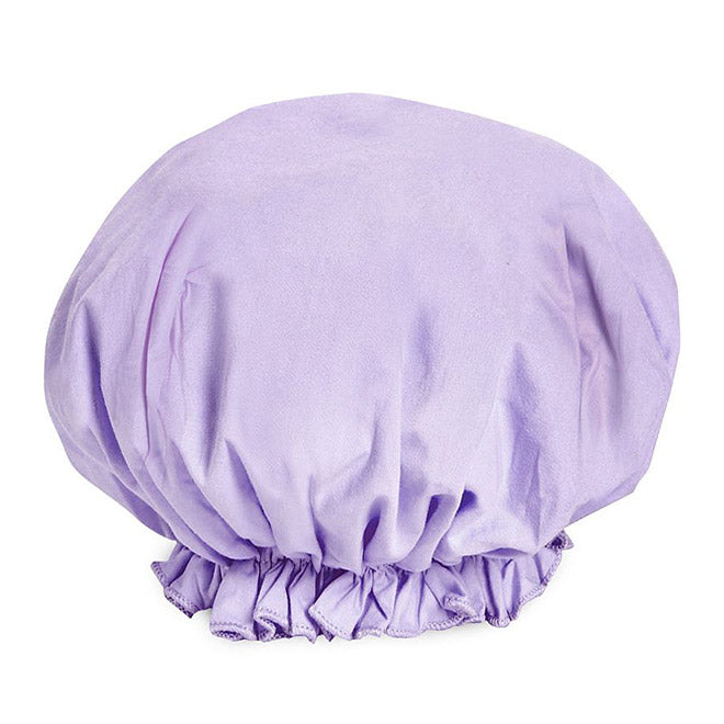 Women's Shower Caps - Cotton Covered Bouffant Style in Pastel Colors