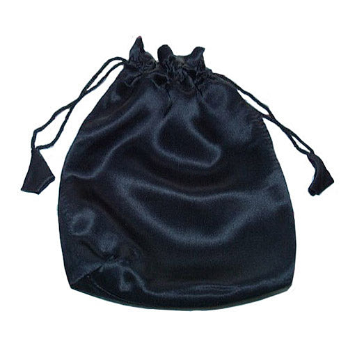 Black 100% silk charmeuse small drawstring bag/pouch