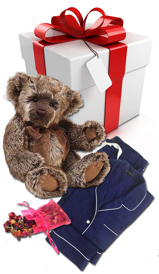 Pajamas & Teddy-Gram Gift Set w/Plush Teddy Bear